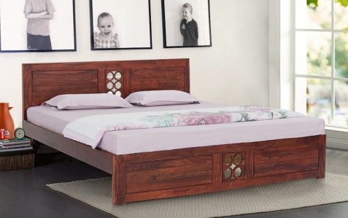 Oriel Solid Wood King Size Bed
