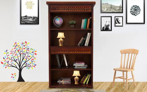 Oriel Solid Wood Book Shelve