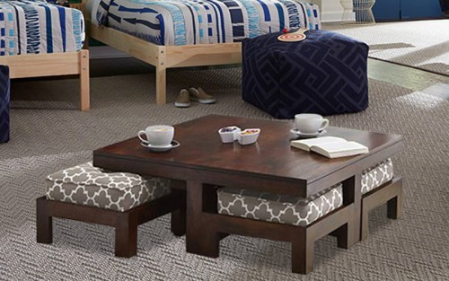 Squoleine Solid Wooden Coffee Table