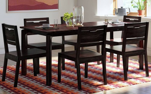 Delicy Solid Wood Dining Set 4 Seater