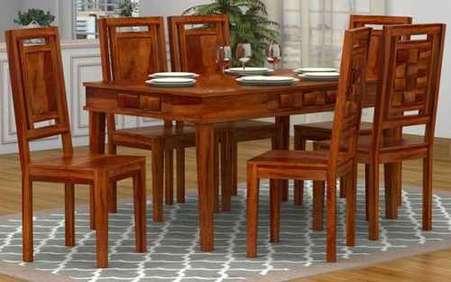 Canbury Solid Wood Dining Set 6 Seater