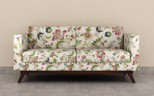 Maggenetta Solid Wood Double Seater Sofa