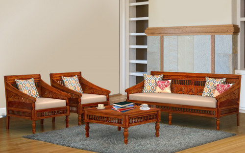 Royal Shekhawati Sheesham Wood Sofa Set