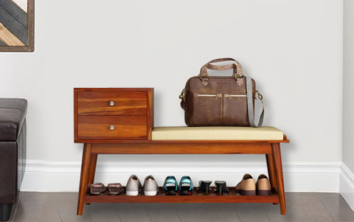 Sputana Sheesham Wood Shoe Rack