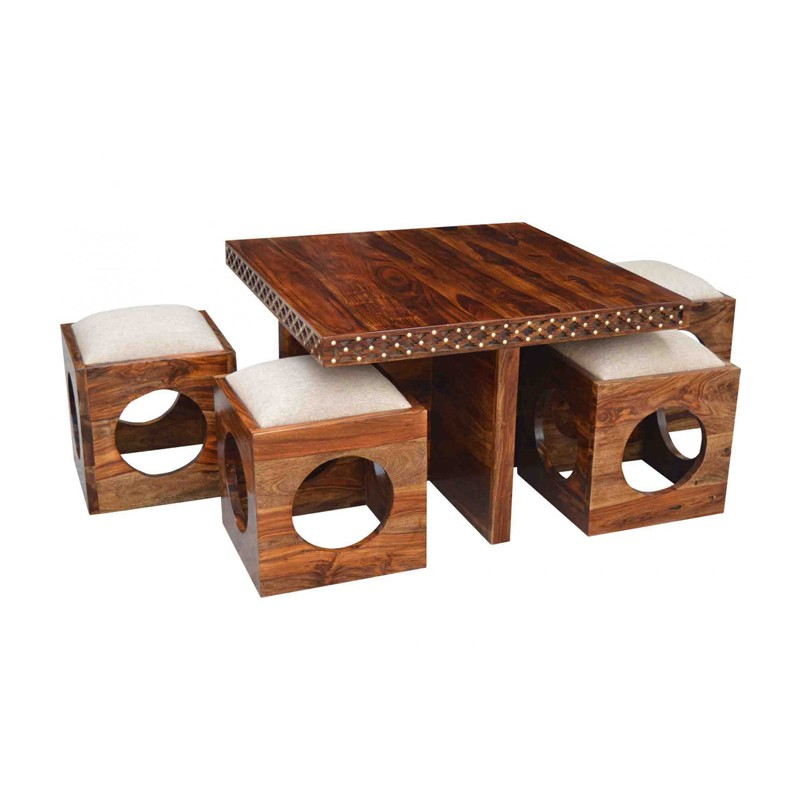 Shop Holostena Sheesham Wood Coffee Table At Dream Dekors