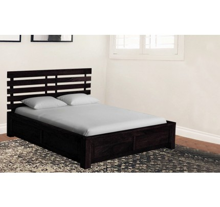 Solid Wood Alice King Size Bed