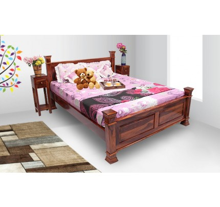 Solid Wood Maharaja Dalla Queen Size Bed