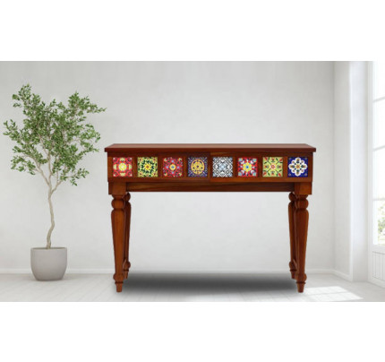 Grinacia Solid Wood Condole Table