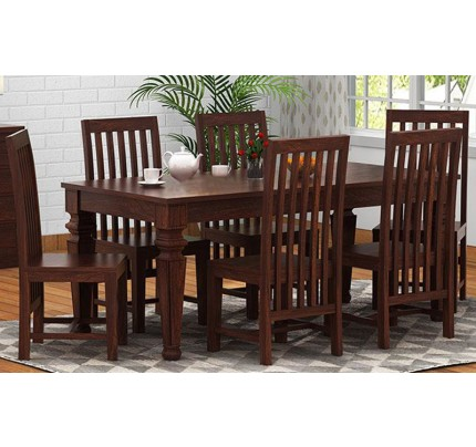 Perina Solid Wood Dining Set 6 Seater
