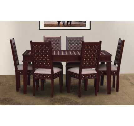 Berliston Sheesham Wood Dining Set 4 Seater