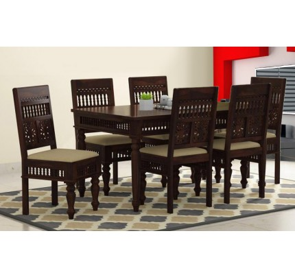 Royal Shekhawati Sheesham Wood Dining Set 6 Seater