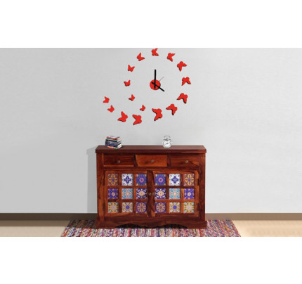 Mandalian Solid Wood Side Board