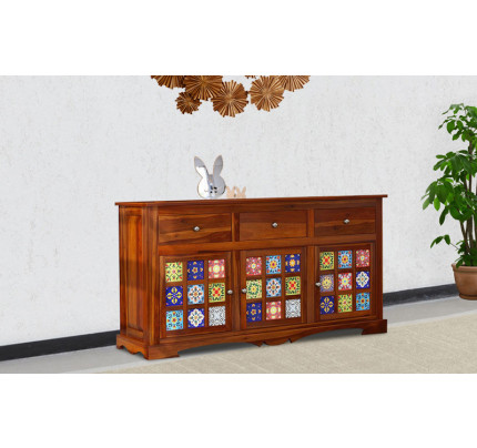 Mandalic Solid Wood Side Board
