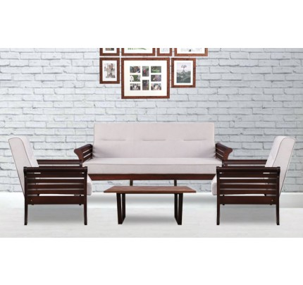 Astral Solid Wood Double Seater Sofa