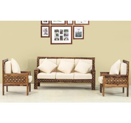 Bradition Solid Wood Double Seater Sofa
