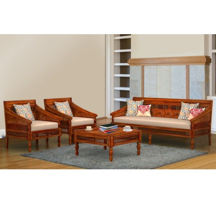 Royal Shekhawati Sheesham Wood Double Seater Sofa