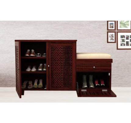 Enshetta Sheesham Wood Shoe Rack