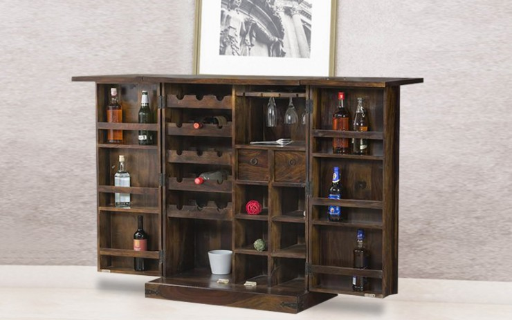 Brits Solid Wood Bar