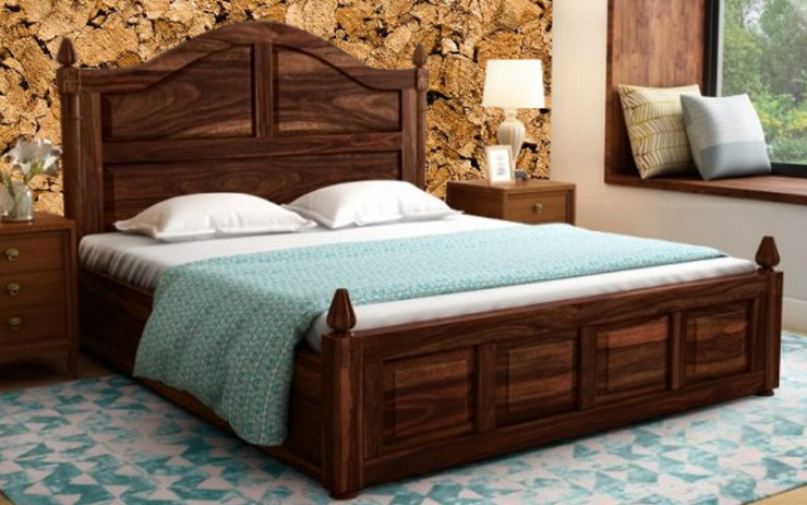 Solid Wood Maharaja Panel King Size Bed