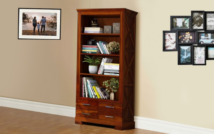 Lingstic Solid Wood Book Shelve