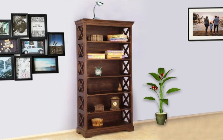 Squalic Sheesham Wood Book Shelve