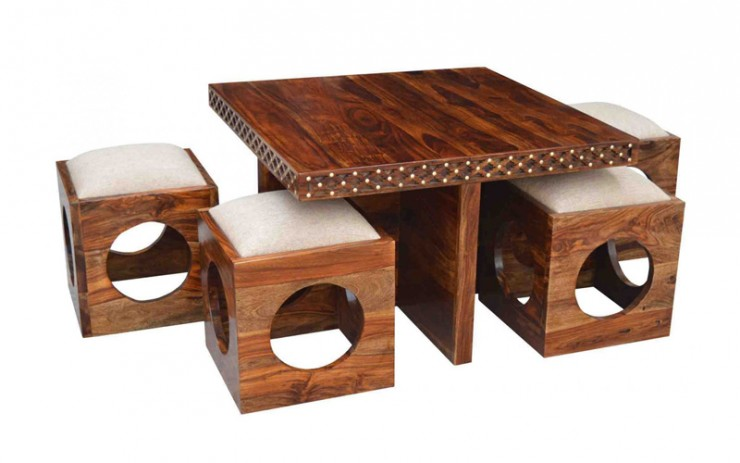Holostena Sheesham Wood Coffee Table