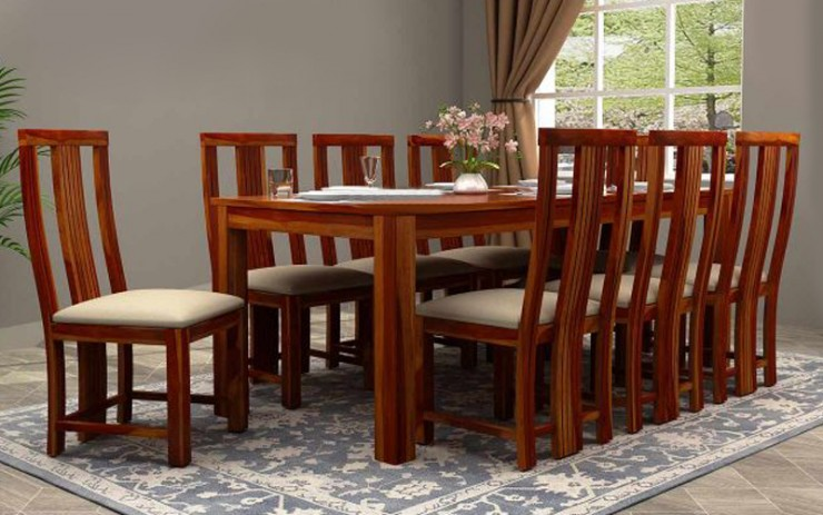 Treaty Solid Wood Dining Set 8 Seater