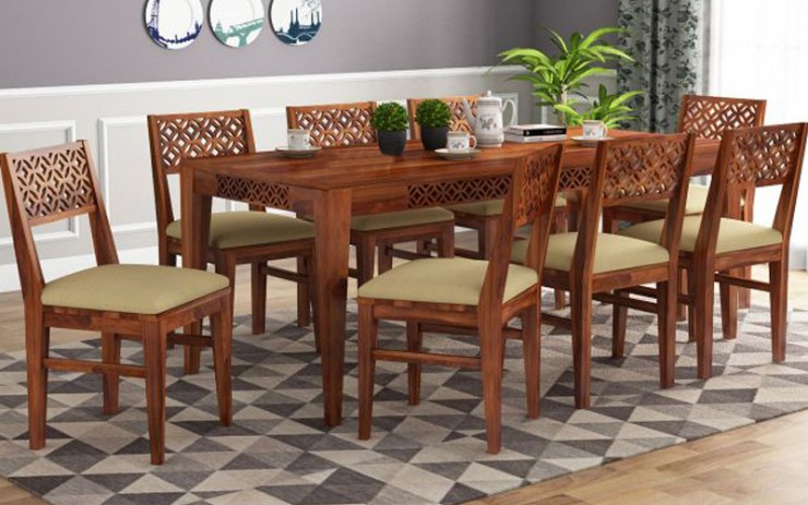 Brissa Sheesham Wood Dining Set 8 Seater
