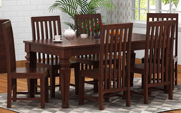 Perina Solid Wood Dining Set 4 Seater