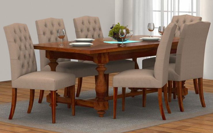Stracky Sheesham Wood Dining Set 6 Seater