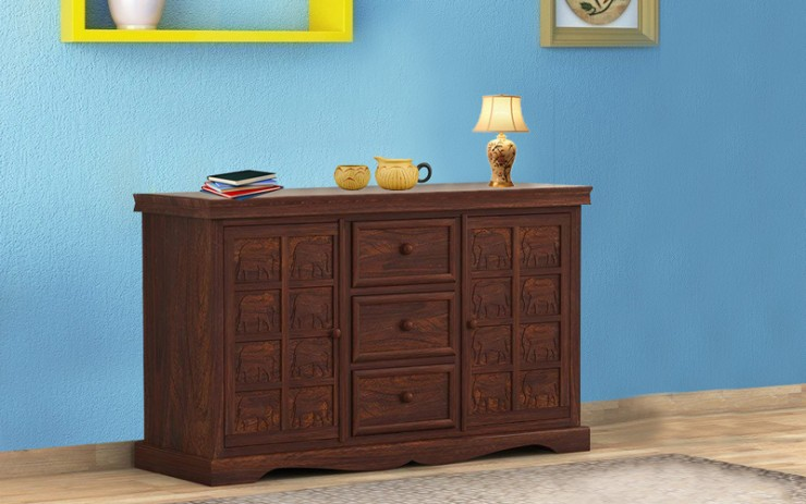 Elpha Sheesham Wood Side Board