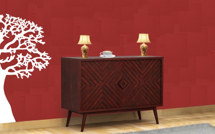 Mazzeca Sheesham Wood Side Board