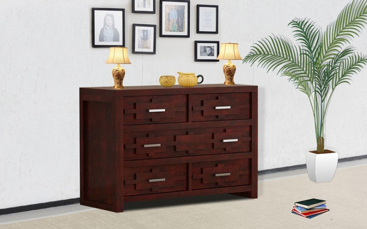 Prexa Solid Wood Side Board