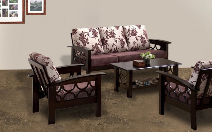 Chelesia Sheesham Wood Double Seater Sofa