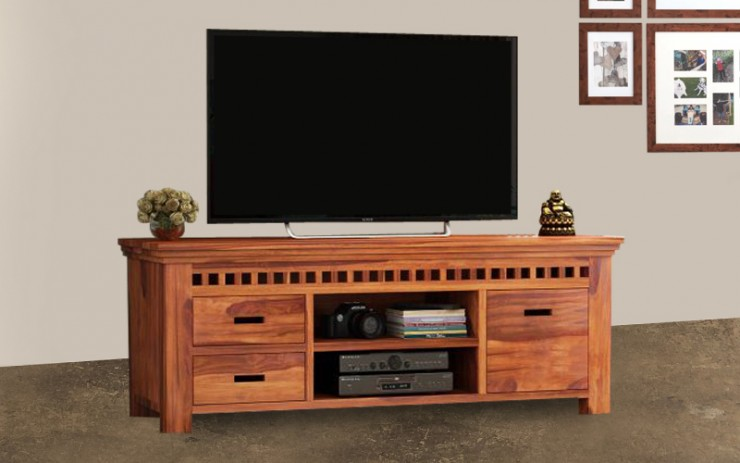 Elista Solid Wood TV Cabinet