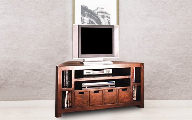 Mainaca Solid Wood TV Cabinet