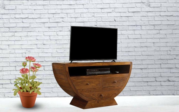 Raenisia Sheesham Wood TV Cabinet